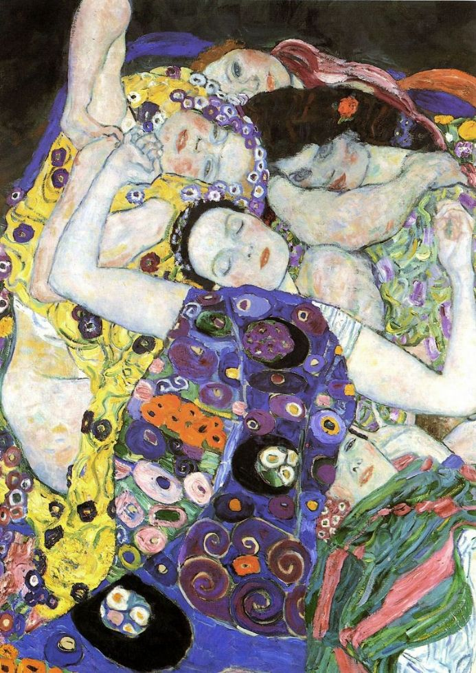 Klimt, Gustav: The Maiden/The Virgin (Detail), 1913. Fine Art Print.  (00648)